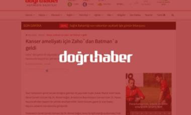 Kanser ameliyatı için Zaho`dan Batman`a geldi – Dr.Ahmet Doğan