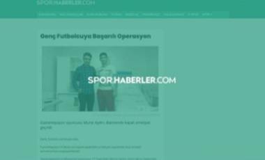 Genç Futbolcuya Başarılı Operasyon – Dr.Ahmet Doğan